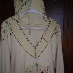 Free people sweater with hood. Very rare!